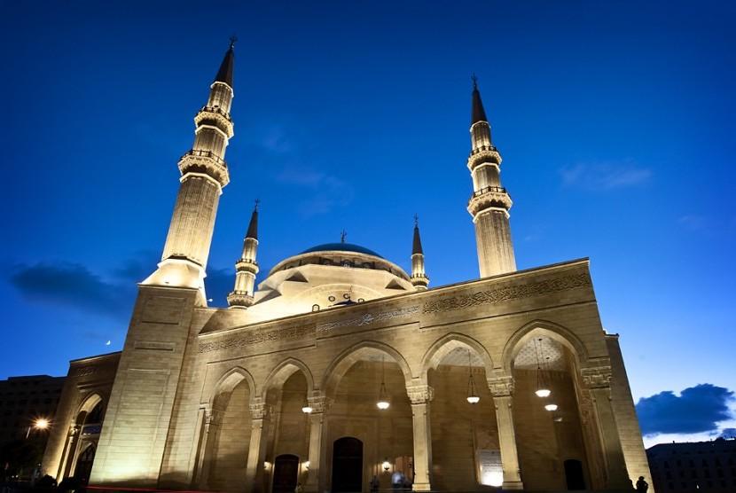 Masjid Muhammad al-Amin Persatukan Umat Islam di Lebanon