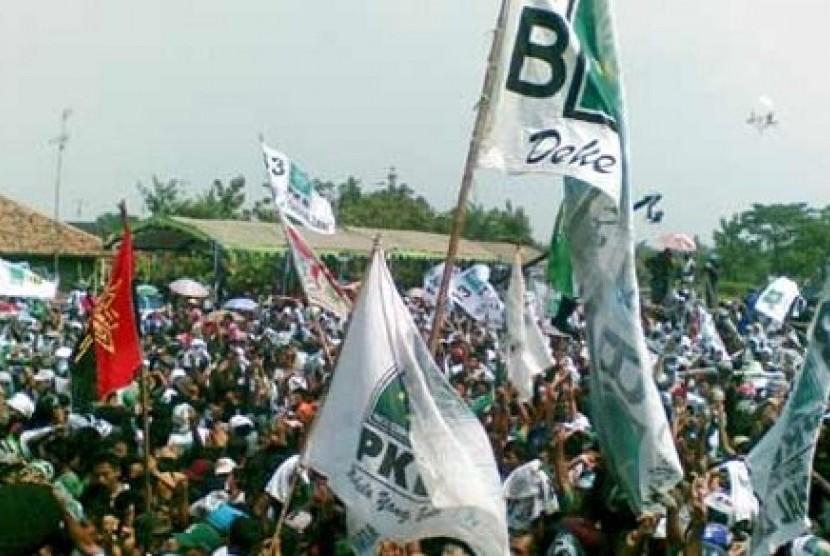 Massa Partai Kebangkitan Bangsa (PKB)  (ilustrasi)