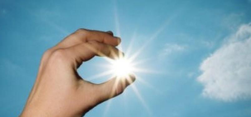Matahari, sumber utama pembentukan vitamin D (Ilustrasi)