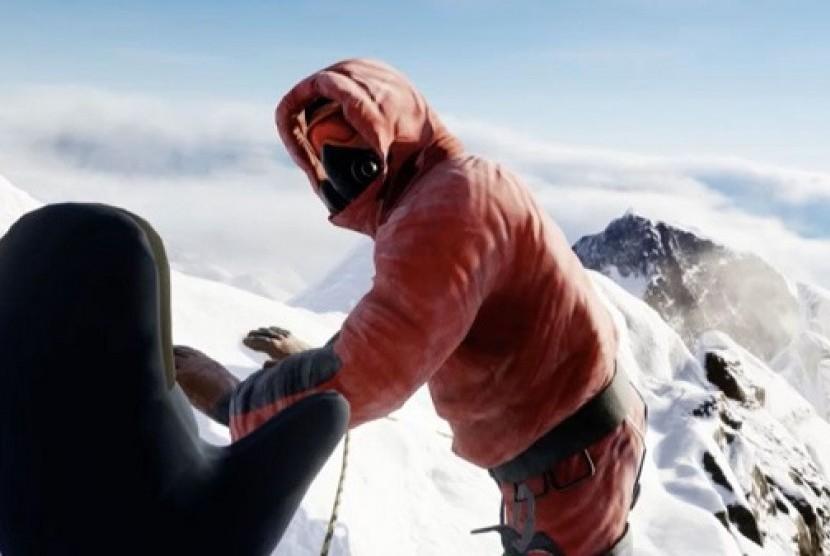 Mendaki Gunung Everest lebih mudah dengan Gim Virtual Reality.