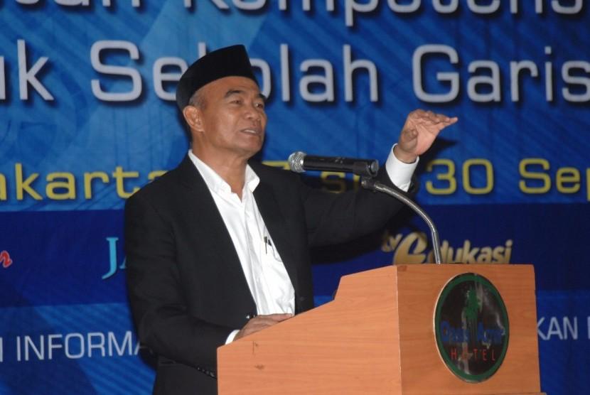 Mendikbud, Prof. Dr. Muhadjir Effendy, dalam agenda Pustekkom Kemdikbud, di Hotel Oasis Amir, Jakarta (27/09/2017).