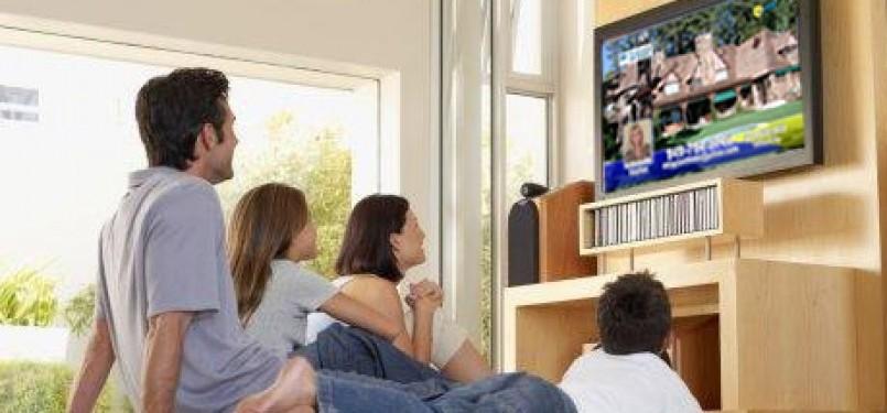 Menonton televisi, ilustrasi