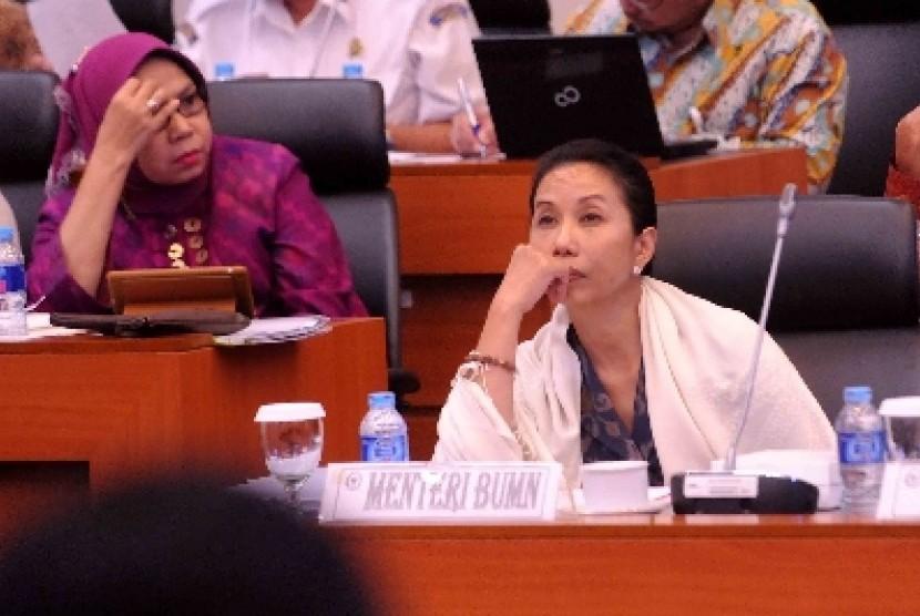 Menteri Badan Usaha Milik Negara (BUMN) Rini Soemarno.