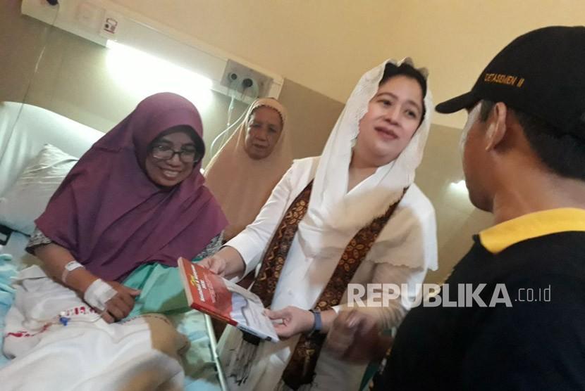Menteri Koodinator Bidang Pembangunan Manusia dan Kebudayaan (Menko PMK) Puan Maharani melakukan kunjungan kerja ke RS PKU Muhammadiyah Gamping, Sleman Selasa (3/4).