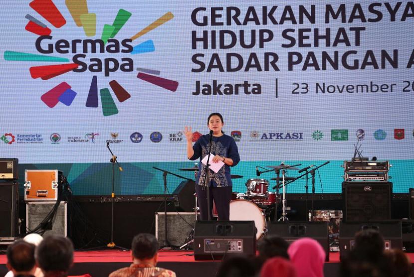 Menteri Koordinator Bidang Pembangunan Manusia dan Kebudayaan (Menko PMK) Puan Maharani.