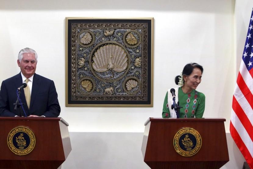 Tillerson: Sanksi ke Myanmar tak Selesaikan Krisis Rohingya.