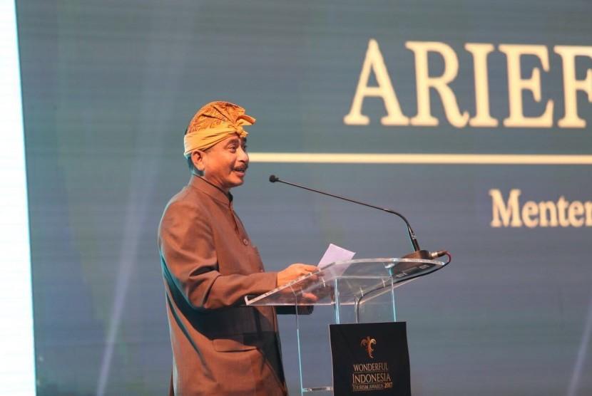Menteri Pariwisata Arief Yahya beribicara di Rakornas III Pariwisata.