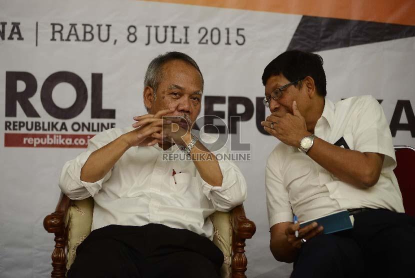 Menteri PUPR, Basuki Hadi Muljono (kiri)