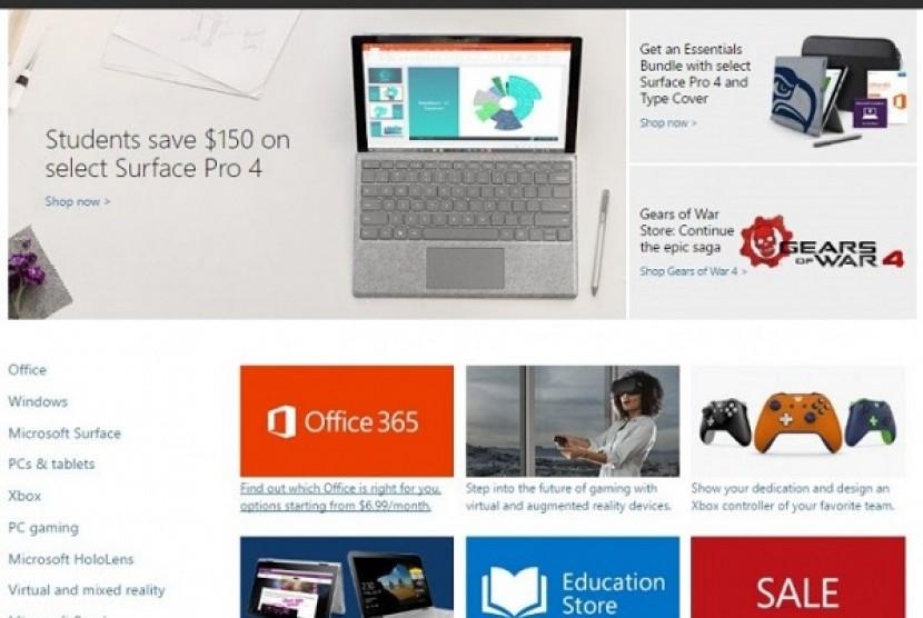 Microsoft Store. Ilustrasi