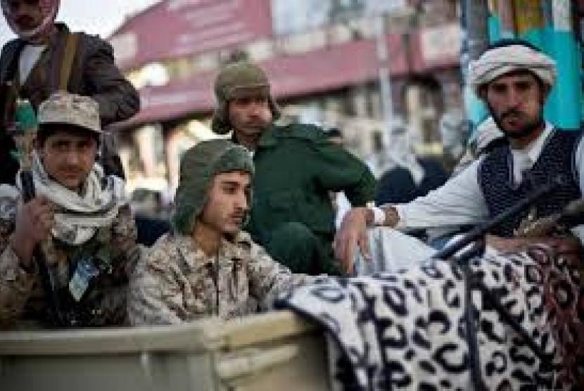 Militan Houthi di Yaman (Ilustrasi)