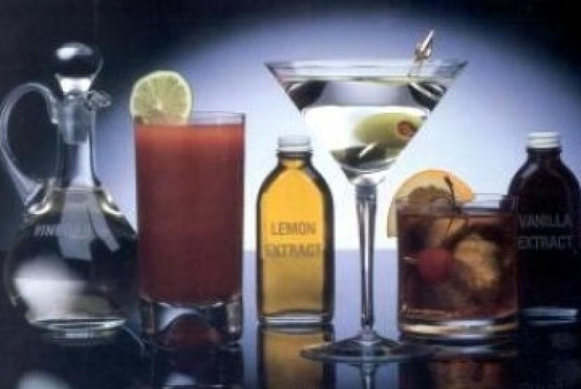 Minuman Beralkohol (Ilustrasi)