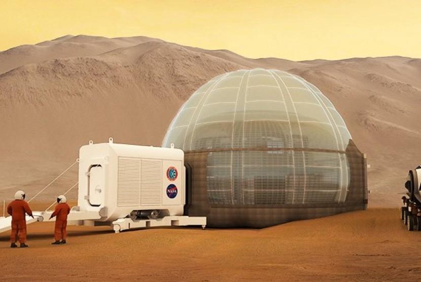 Misi manusia di Mars. (ilustrasi)