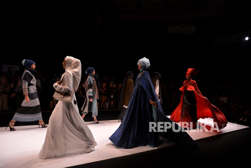 Muslim Fashion Festival (Mufest) Indonesia 2018 at Jakarta Convention Center, Jakarta, Thursday (April 19).