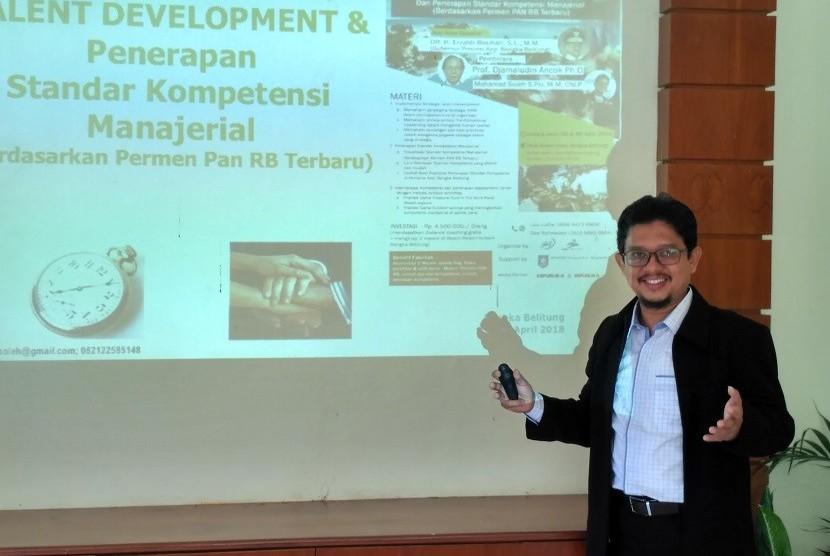 Mohamad Soleh yang juga merupakan Master Trainer & Konsultan Manajemen di AIDA Consultant