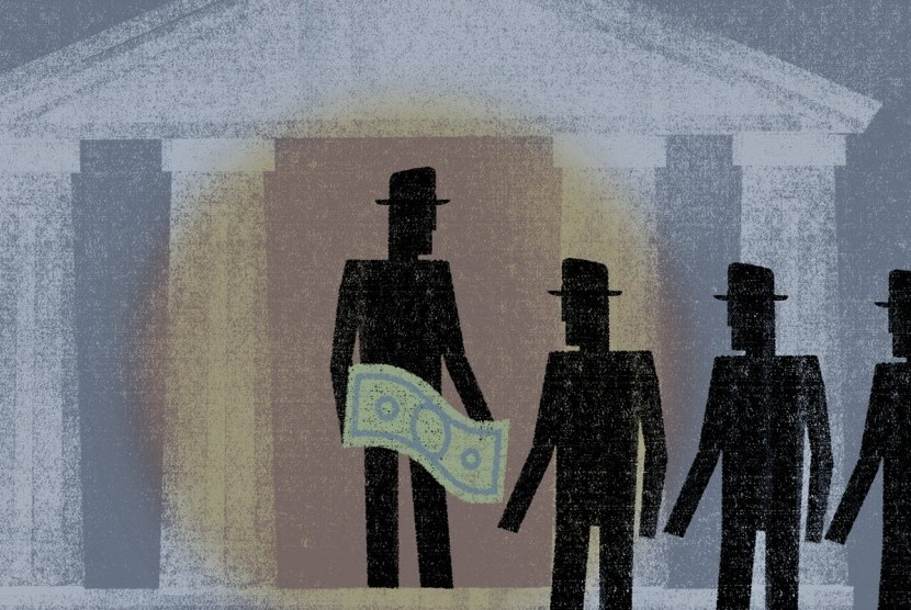 Money politics (ilustrasi).