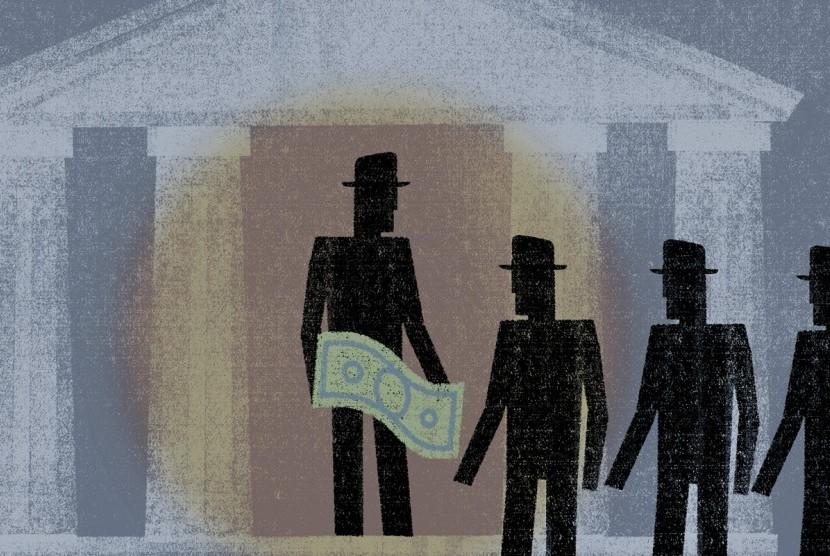Money politics (ilustrasi).