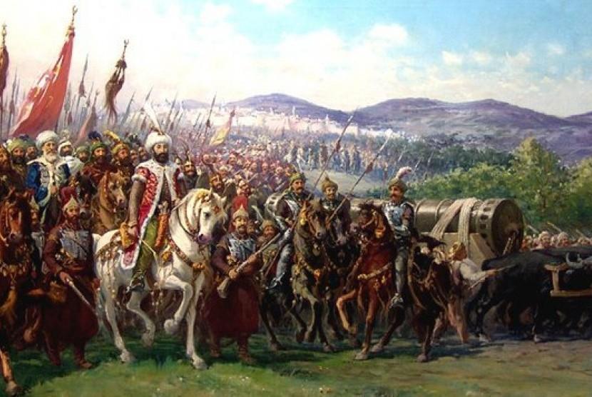 Muhammad Al-Fatih dan pasukannya (ilustrasi).