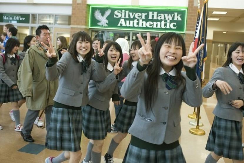 Murid sekolah di Jepang (ilustrasi)