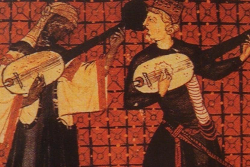 Musik kasidahan (ilustrasi)