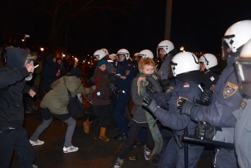 Muslim Austria di Wina demo menentang RUU yang membatasi kaum Muslim Austria (Ilustrasi)