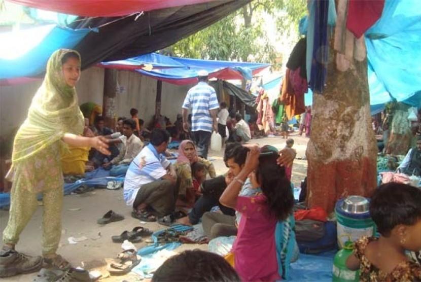 Muslim Myanmar di Pengungsian