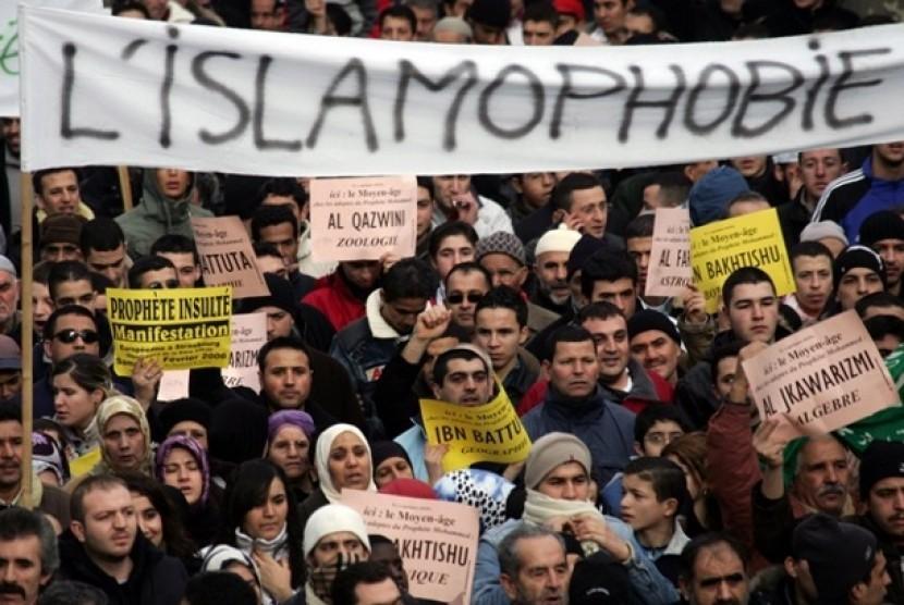 Muslim Prancis protes dengan diskriminasi dan Islamofobia