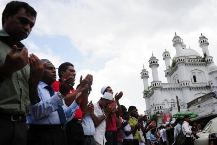 Muslim Sri Lanka (ilustrasi).