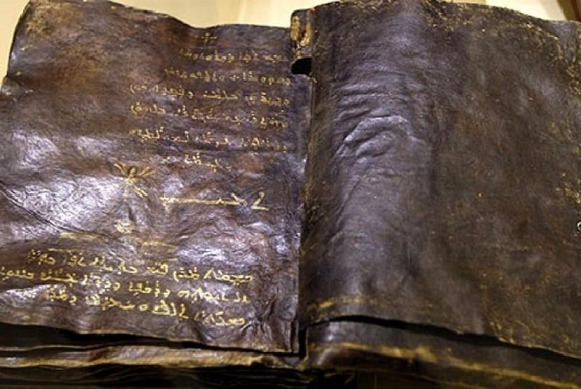 Naskah injil yang ditemukan di Turki bertuliskan bahasa Syriac dialek Aram.