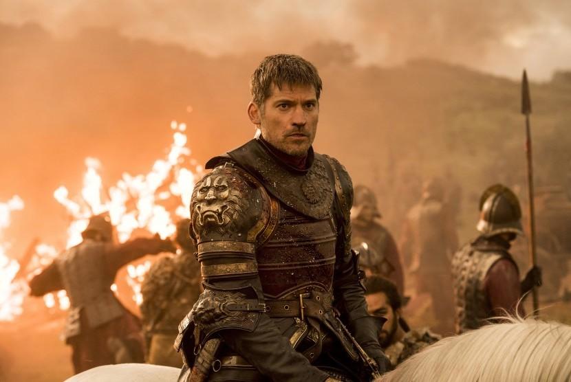 Nikolaj Coster-Waldau yang berperan sebagai Jaime Lannister dalam episode Game of Throne yang tayang di HBO. Episode terbaru serial ini diretas dan dibocorkan secara daring.