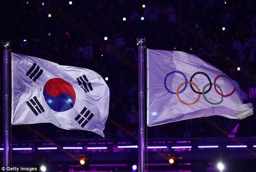 Olimpiade musim dingin 2018. Ilustrasi