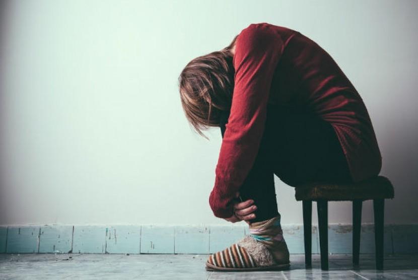 Orang yang mengalami gangguan jiwa (ilustrasi)
