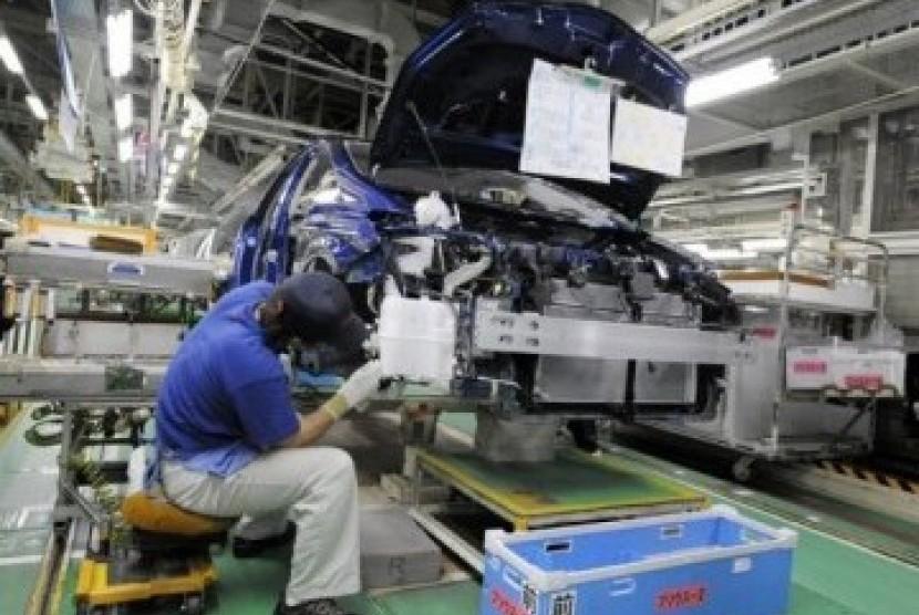 Pabrik mobil di Jepang, ilustrasi