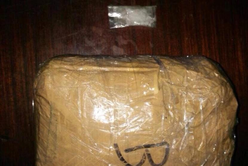 Paket sabu dibawa penumpang kapal yang ditangkap petugas Bea Cukai Jambi.