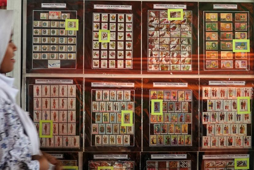 Pameran filateli atau pameran perangko. Ilustrasi
