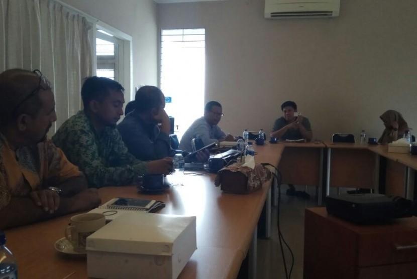 Panitia Islamic Book Fair (IBF) 2018 mengadakan pertemuan dengan tim Alquran Learning Center (AQL) di Jakarta, Rabu (17/1).