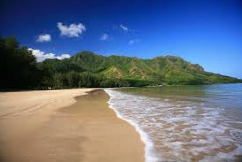 Pantai cantik di pesisir Honduras.