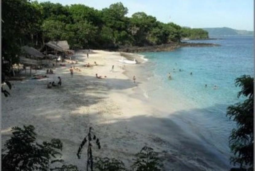 Pantai di Bali, ilustrasi
