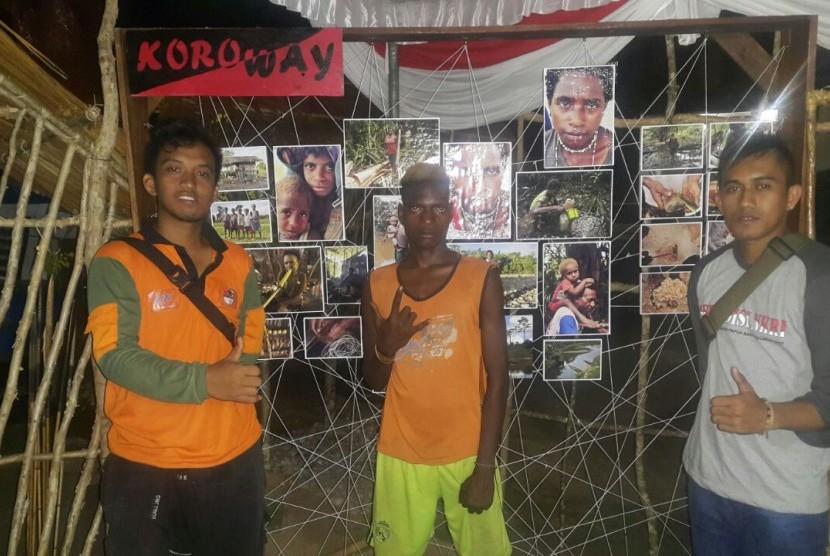 Para pemuda yang tergabung dalam peserta Ekspedisi NKRI Koridor Papua Bagian Selatan 2017.