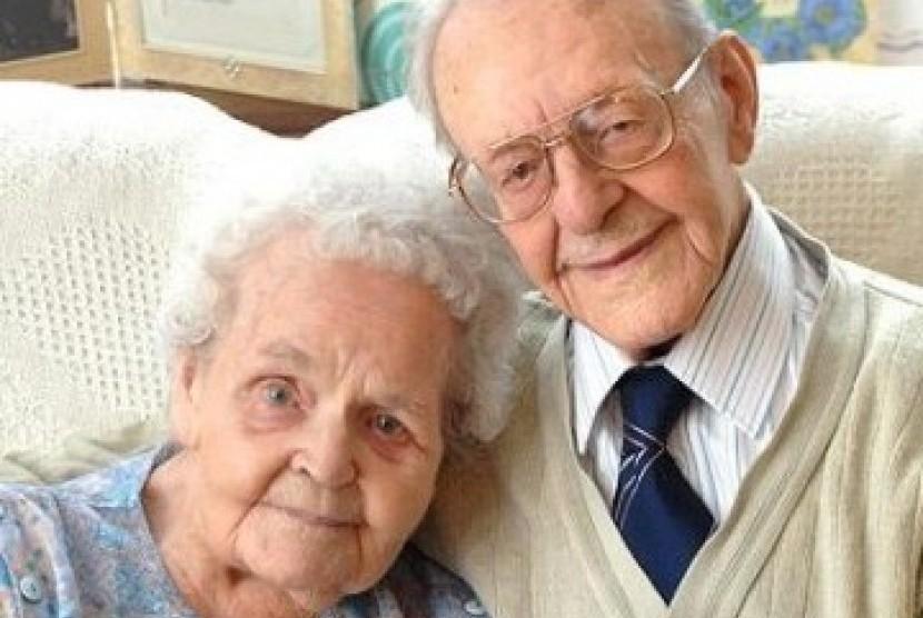 Pasangan kakek nenek, ilustrasi