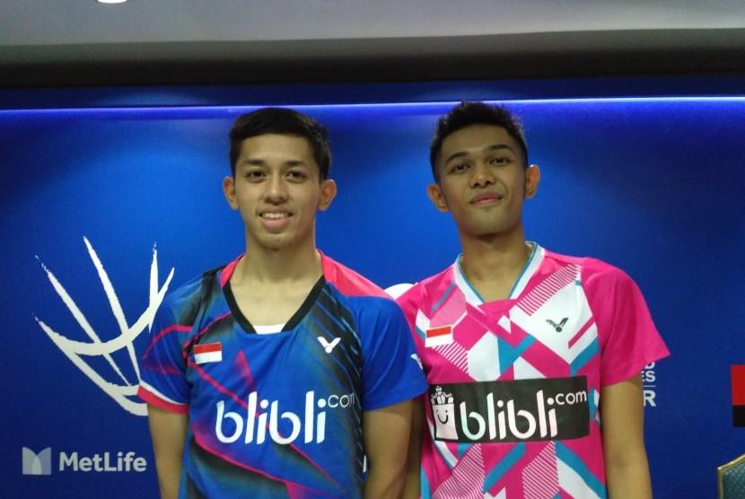 Pasangan muda ganda putra Indonesia, Fajar Alfian/M Rian Ardianto