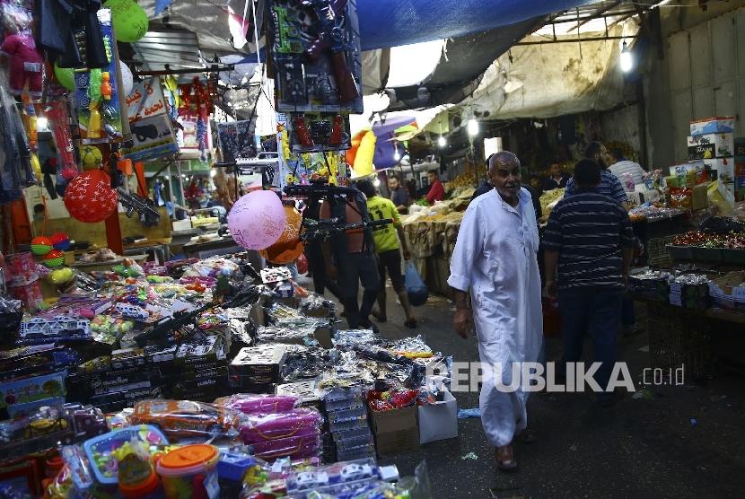 Pasar di Kota Gaza, Palestina.