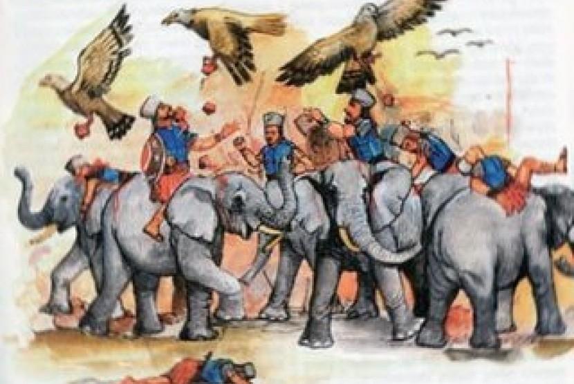 Pasukan gajah Raja Abrahah (ilustrasi)