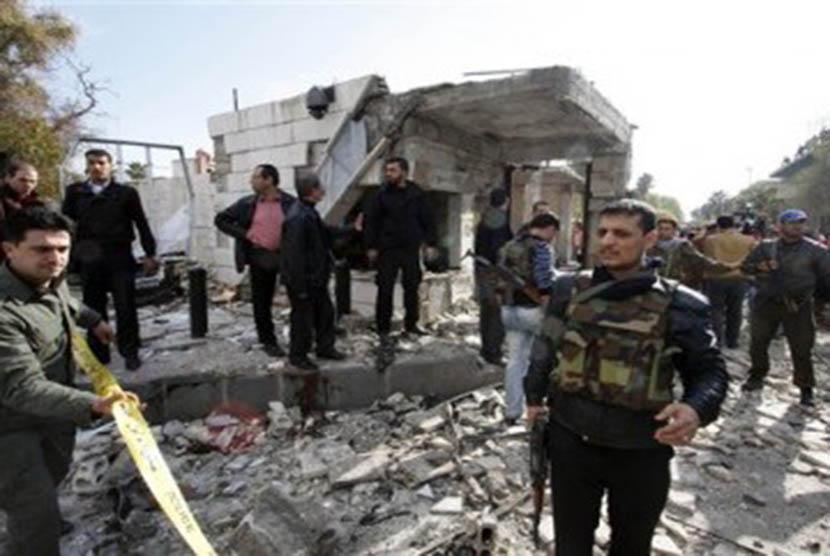 Bom bunuh diri di Damaskus (ilustrasi).