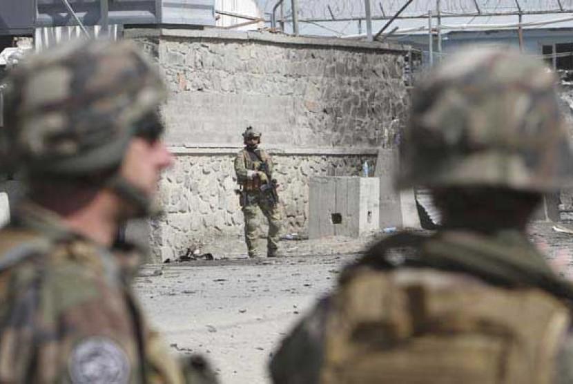 Pasukan NATO di kota Kabul, Afghanistan.