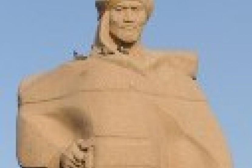 patung al Farabi di Kazakhtan