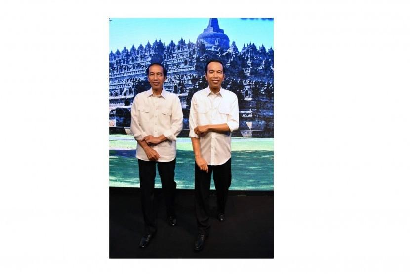 Patung lilin Presiden Jokowi di Museum Madame Tussauds Hong Kong.