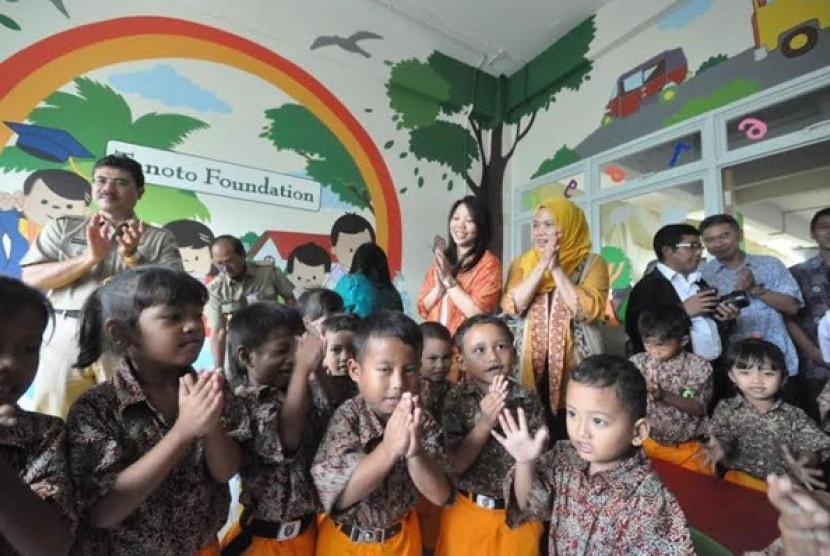 PAUD Kenanga 17 di Rusunawa Waduk Pluit, Muara Baru, Kecamatan Penjaringan, Jakarta Utara