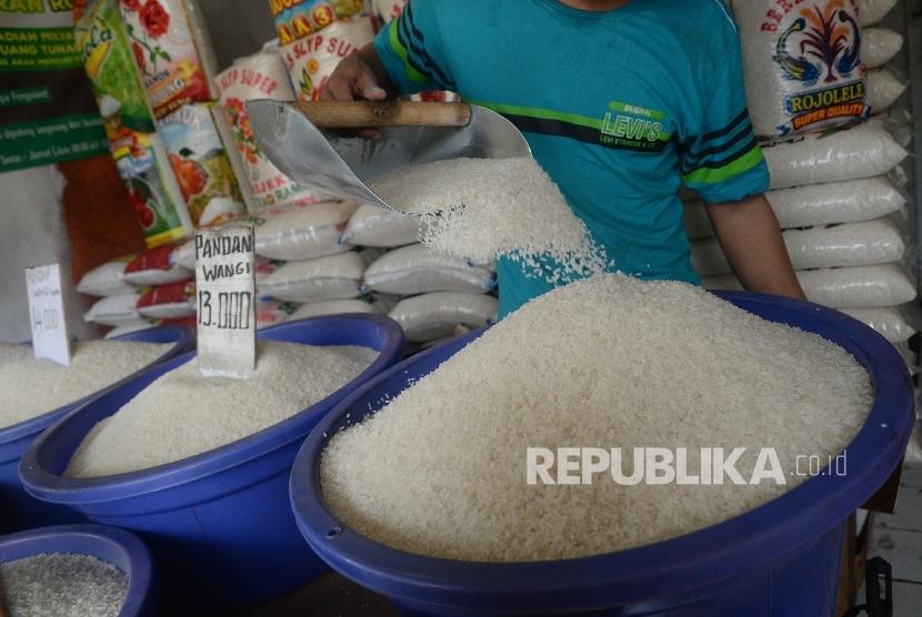 Pedagang beras. (ilustrasi)