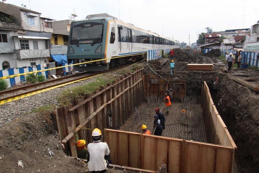Jalur Ganda Kereta Api Layang di Medan akan Segera Rampung