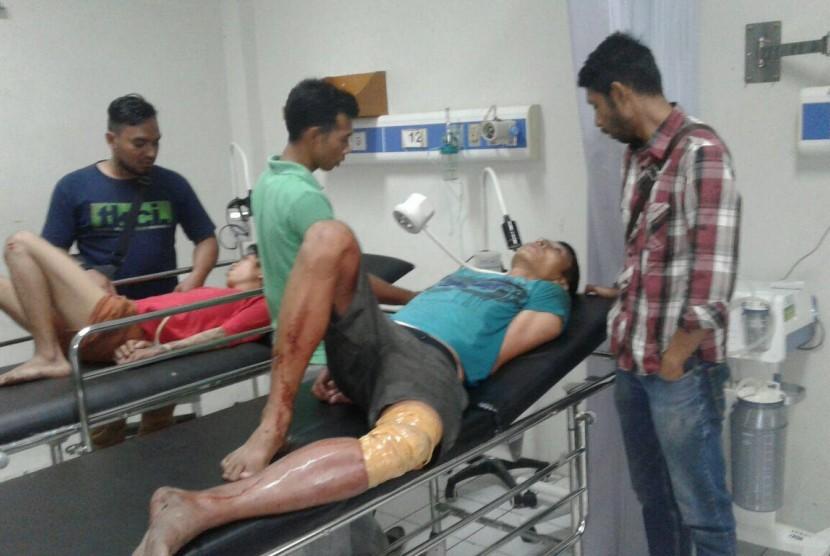 Pelaku pembunuhan sopir taksi daring di Bogor yang ditembak oleh polisi.